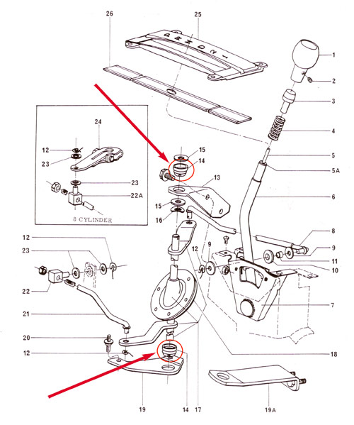 E4OD 4R100 c 3777 together with Kwik Shift I Air Shifter Powerglide Rear Exit Pull Pattern likewise Front Wheel Drive Transmissions Shift Kit together with Hurst Replacement  petition Plus Upper Stick 3 8 16 Threads 2 as well Manual Transmission Clutch Pedal Diagram. on automatic transmission shifters